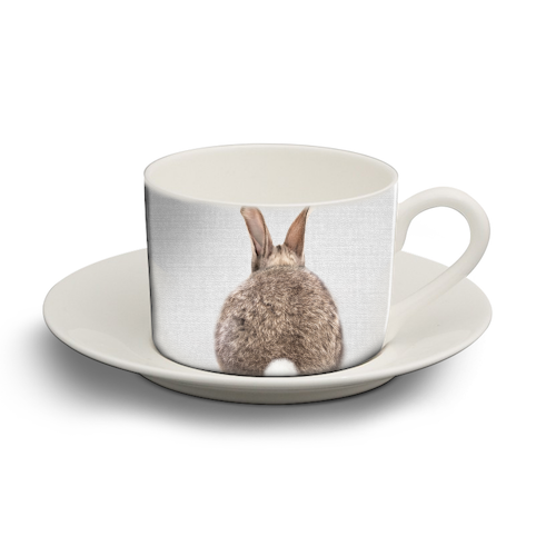 Rabbit Tail - Colorful - personalised cup and saucer by Gal Design