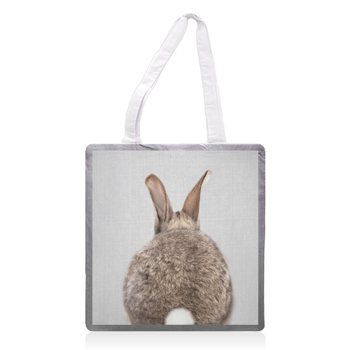 Rabbit Tail - Colorful - printed tote bag by Gal Design
