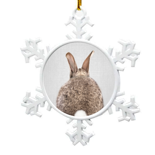 Rabbit Tail - Colorful - snowflake decoration by Gal Design