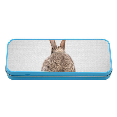 Rabbit Tail - Colorful - tin pencil case by Gal Design