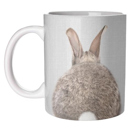 Rabbit Tail - Colorful - unique mug by Gal Design