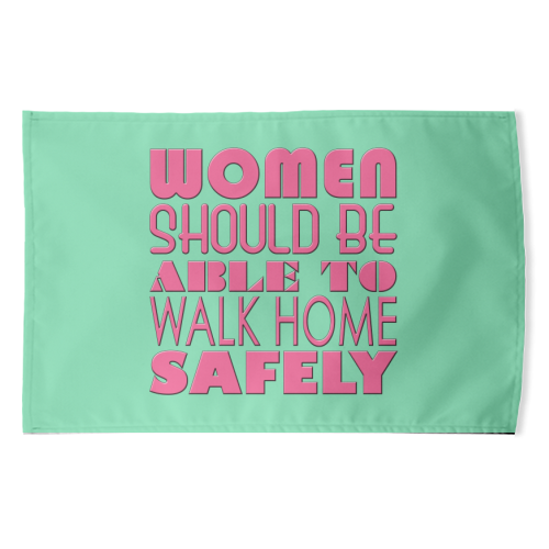 Women - funny tea towel by Kitty & Rex Designs