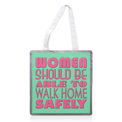 Women - printed tote bag by Kitty & Rex Designs