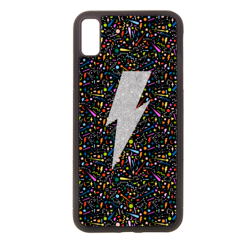 LIGHTNING BOLT - Rubber phone case by PEARL & CLOVER