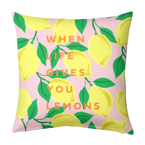 WHEN LIFE GIVES YOU LEMONS - designed cushion by PEARL & CLOVER