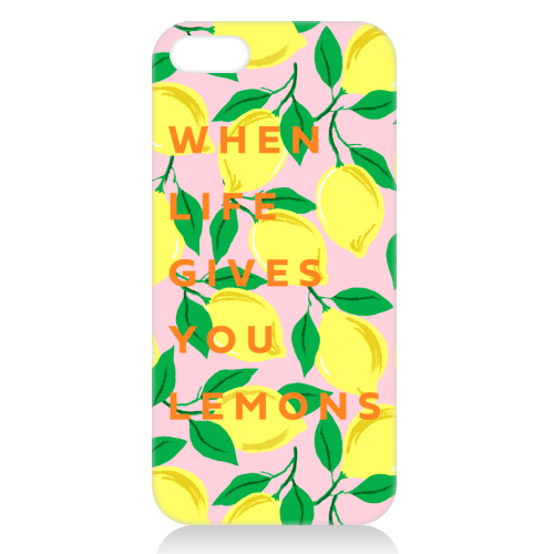 WHEN LIFE GIVES YOU LEMONS - unique phone case by PEARL & CLOVER