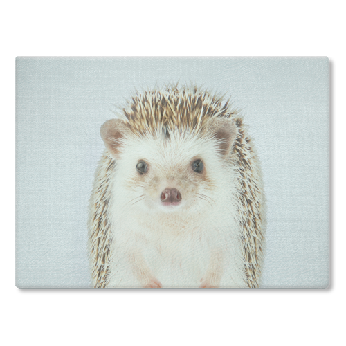 Hedgehog - Colorful - glass chopping board by Gal Design