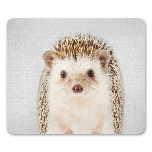 Hedgehog - Colorful - personalised mouse mat by Gal Design