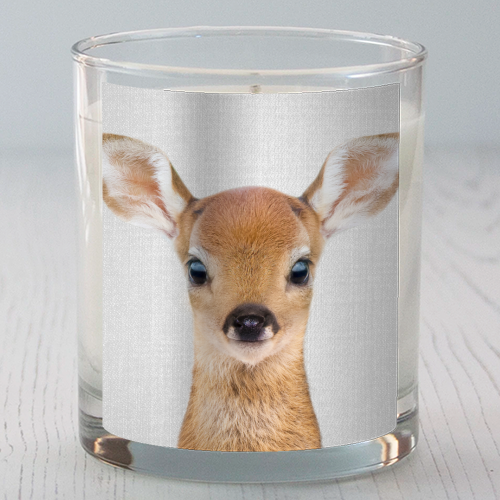 Baby Deer - Colorful - Candle by Gal Design
