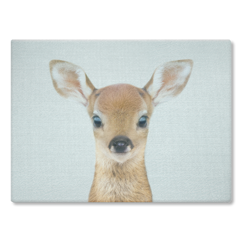 Baby Deer - Colorful - glass chopping board by Gal Design