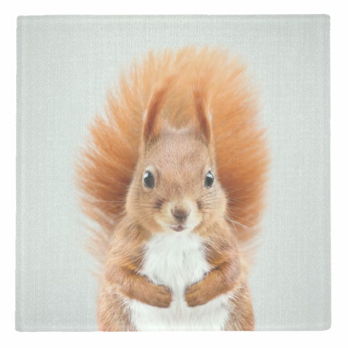Squirrel - Colorful - personalised drink coaster by Gal Design