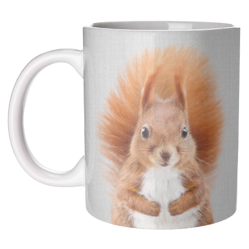 Squirrel - Colorful - unique mug by Gal Design