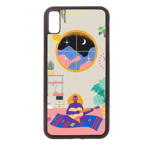 Paradise House: Chillout Room - Rubber phone case by Nina Robinson