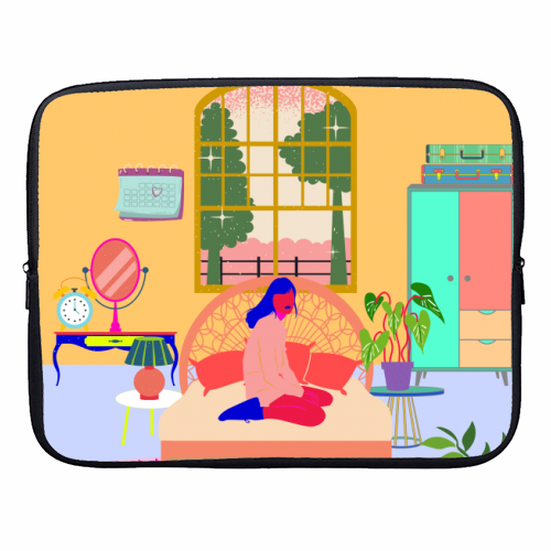 Paradise House: Bedroom - designer laptop sleeve by Nina Robinson