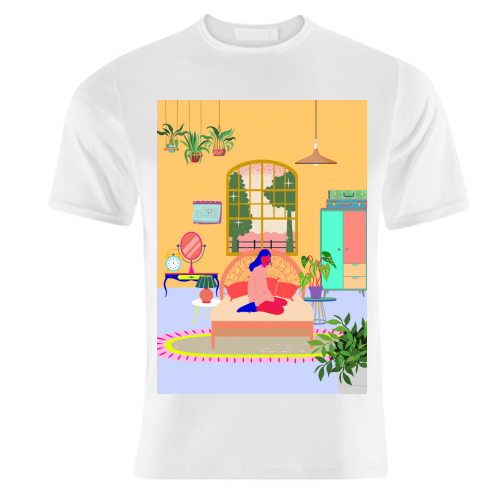 Paradise House: Bedroom - unique t shirt by Nina Robinson