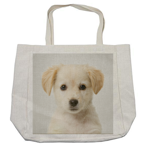 Golden Retriever Puppy - Colorful - cool beach bag by Gal Design