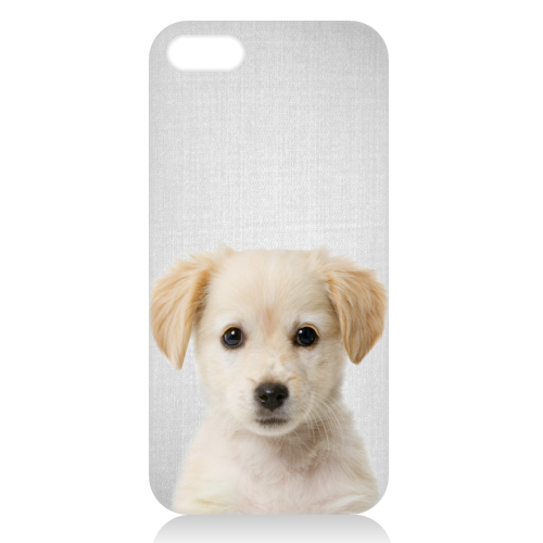 Golden Retriever Puppy - Colorful - unique phone case by Gal Design