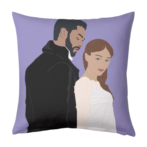 Bridgerton - designed cushion by Rock and Rose Creative