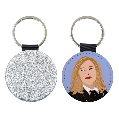 Moira Rose - personalised leather keyring by Rock and Rose Creative