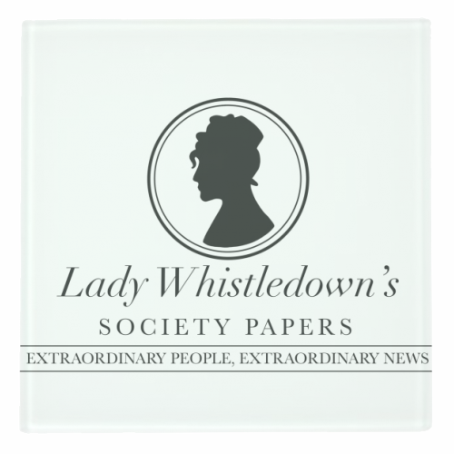 Lady Whistledown's Society Papers - personalised drink coaster by Cheryl Boland
