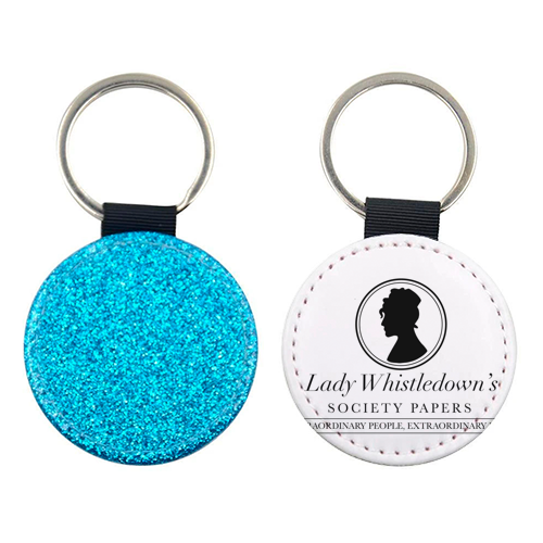 Lady Whistledown's Society Papers - personalised picture keyring by Cheryl Boland
