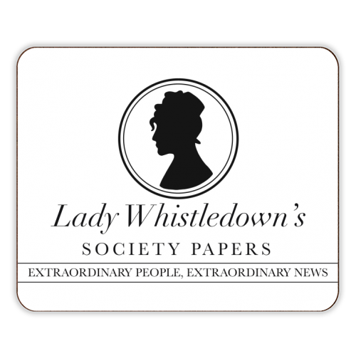 Lady Whistledown's Society Papers - photo placemat by Cheryl Boland