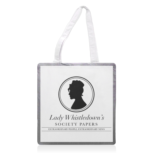 Lady Whistledown's Society Papers - printed tote bag by Cheryl Boland