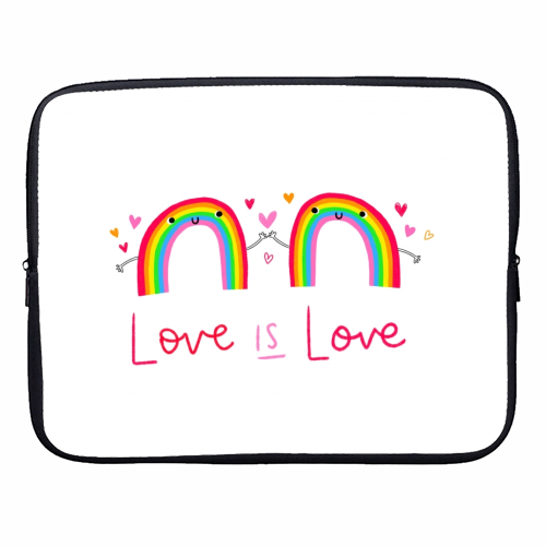 Love is Love - designer laptop sleeve by Jessica Moorhouse