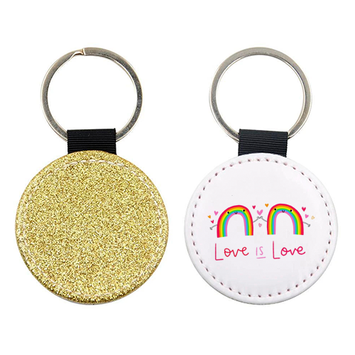 Love is Love - personalised picture keyring by Jessica Moorhouse