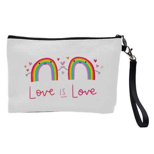 Love is Love - pretty makeup bag by Jessica Moorhouse