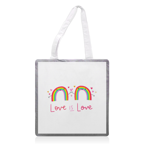 Love is Love - printed tote bag by Jessica Moorhouse
