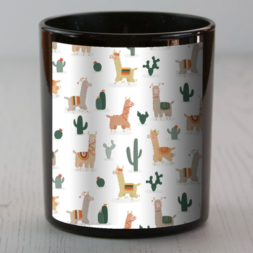 Fun llamas - Candle by Jessica Moorhouse