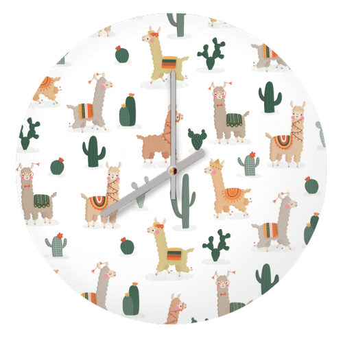 Fun llamas - creative clock by Jessica Moorhouse