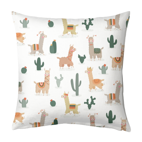 Fun llamas - designed cushion by Jessica Moorhouse