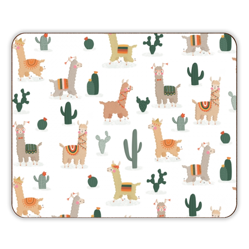 Fun llamas - photo placemat by Jessica Moorhouse