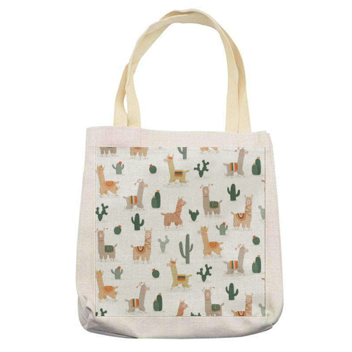 Fun llamas - printed tote bag by Jessica Moorhouse