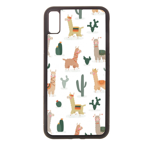 Fun llamas - Rubber phone case by Jessica Moorhouse