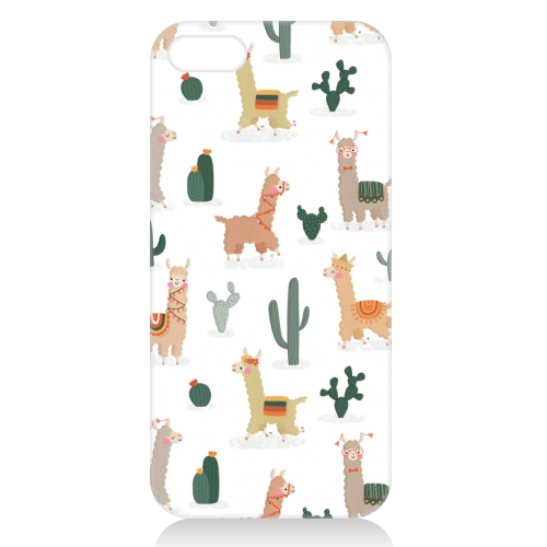 Fun llamas - unique phone case by Jessica Moorhouse