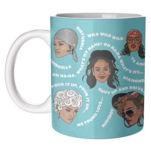 Rihanna Collection - unique mug by Catherine Critchley.