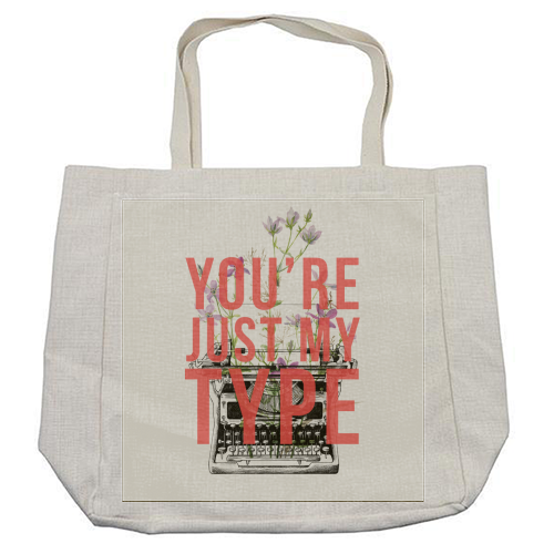 You're Just My Type - cool beach bag by The 13 Prints