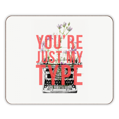 You're Just My Type - photo placemat by The 13 Prints