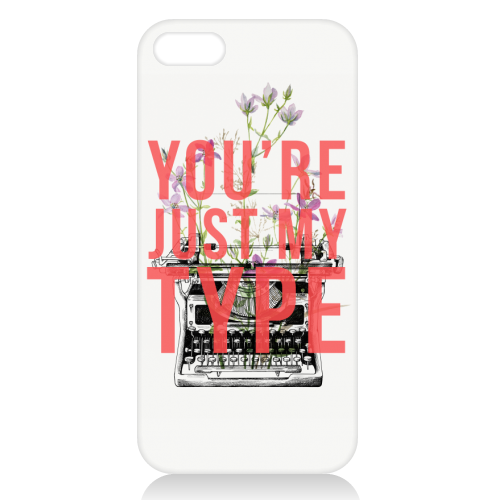 You're Just My Type - unique phone case by The 13 Prints