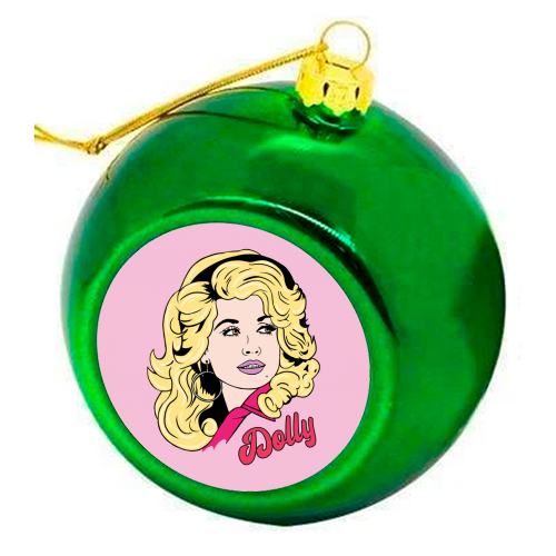 What would Dolly do? - colourful christmas bauble by Bite Your Granny