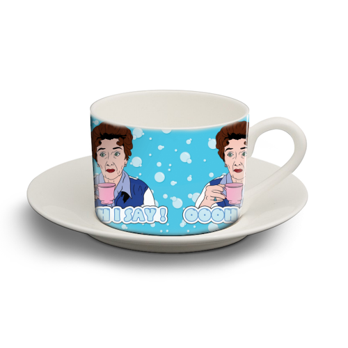 Oooh I say! Dot Cotton! - personalised cup and saucer by Bite Your Granny