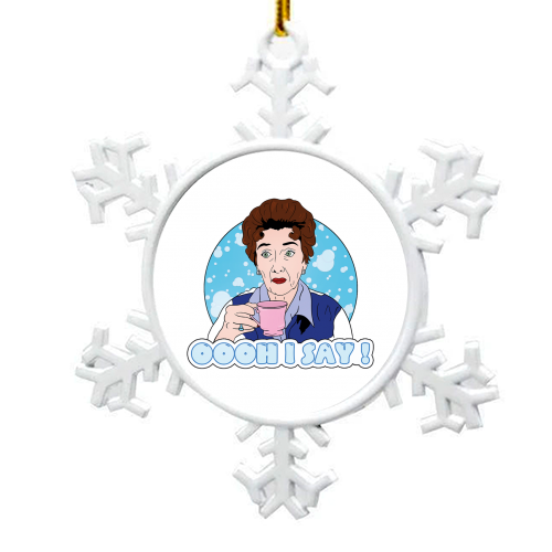 Oooh I say! Dot Cotton! - snowflake decoration by Bite Your Granny