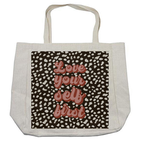 Love Your Self First - cool beach bag by Kimberley Ambrose