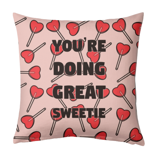 Sweetie print - designed cushion by Kimberley Ambrose