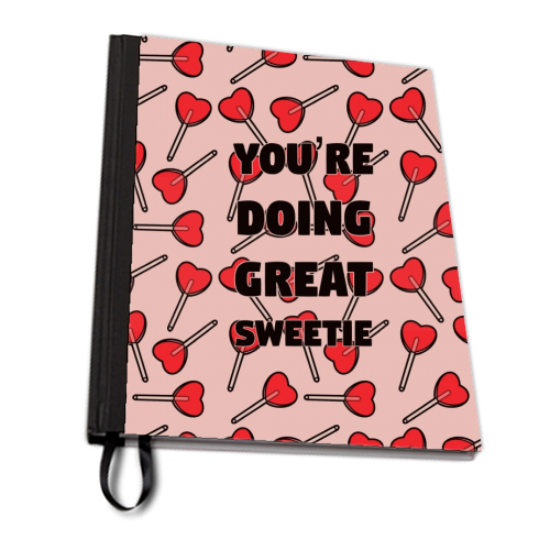 Sweetie print - designed notebook by Kimberley Ambrose