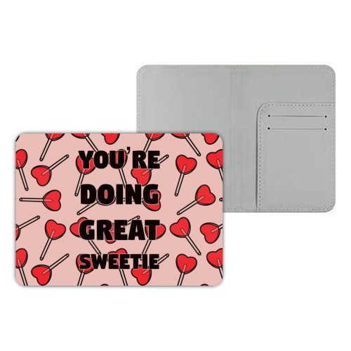 Sweetie print - designer passport cover by Kimberley Ambrose