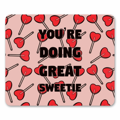 Sweetie print - personalised mouse mat by Kimberley Ambrose